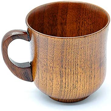 Wood Coffee Cup Handmade Tea Mugs Wooden Drinking Cup for Tea Beer Water Juice Milk 260ml product image