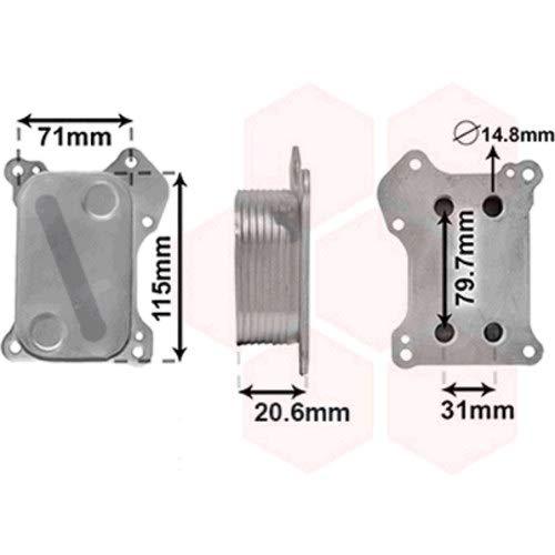 Radiador aceite motor para Fiat 500de 2007a 2015version 1.3mjtd, sin caja de filtro