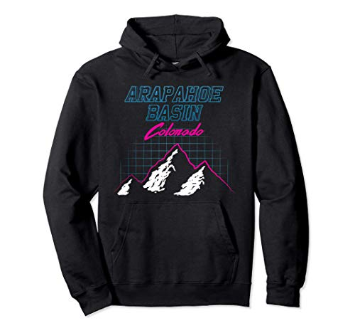 Arapahoe Basin, California USA Ski Resort 1980s Hoodie, Unisex S to 2Xl