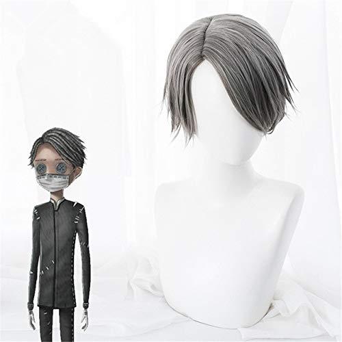 Juego Identity V Cosplay pelucas embalsamador Aesop Carl juego de rolpeluca sinttica disfraz de fiesta de Halloween peluca + gorro de peluca