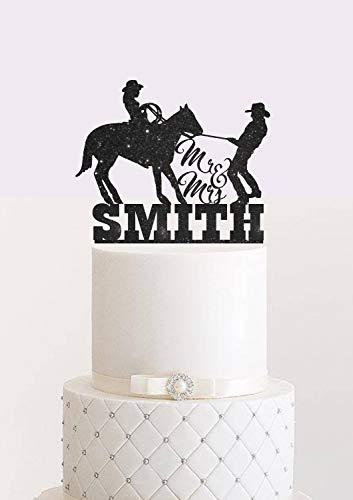Cowboy Hochzeitstorte Topper Braut und Bräutigam Country Western Hochzeit Kuchen Topper Cowboy und...