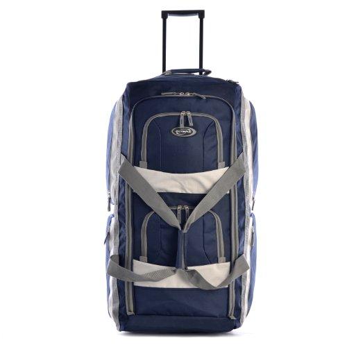 Olympia 8 Pocket Rolling Duffel Bag, Navy