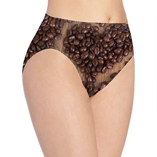 Eileen Powell Lovexue Damen Unterwäsche Natürliche Kaffeebohnen Herz Bikini Brief Hipster Panty S
