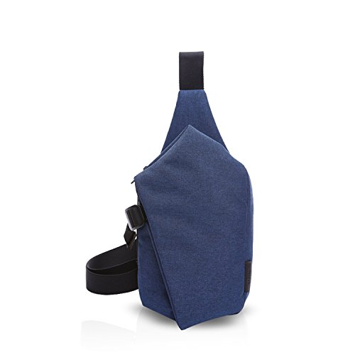 FANDARE Sling Bag Monospalla Borse a Spalla Zaino Spalla Borsa a Tracolla Crossbody Bag Borsello Marsupio Zainetto Crossbody Chest Bag Zaino Uomo Donne Daypack Poliestere Blu