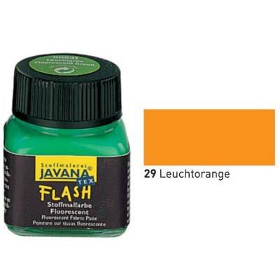 Javana Textil FLASH Neon fluoreszierende Stoffmalfarbe 20ml, Leuchtorange