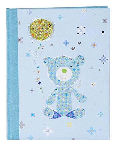 Goldbuch 11431 Babytagebuch Teddy, 44 illustrierte Seiten, ca. 21 x 28 cm, blau