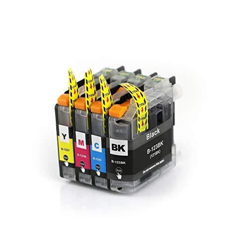 Abakoo 4 LC121 LC123 patronen XXL kompatibel mit V3 Chip Ersatz für Brother MFC-J4510DW MFC-J4710 MFC-J870DW MFC-J4410DW MFC-J4610DW DCP-J172W DCP J4110W DCP J552DW DCP J752DW Drucker