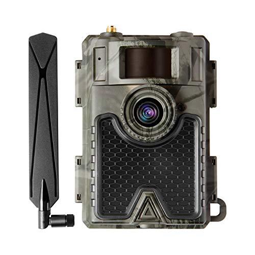 WingHome 4G Wildkamera 480Ace Nachtsicht 60IR LEDs Jagdkamera WLAN APP Handyübertragung 24MP 1080P Wildtierkamera IP66 mit SIM Karte