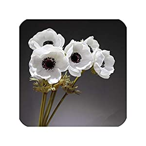 NA Honey Yo 5Pcs White Anemone Flower Home Decoration Pasqueflower Wedding Artificial Flower Floral Event Party Flower