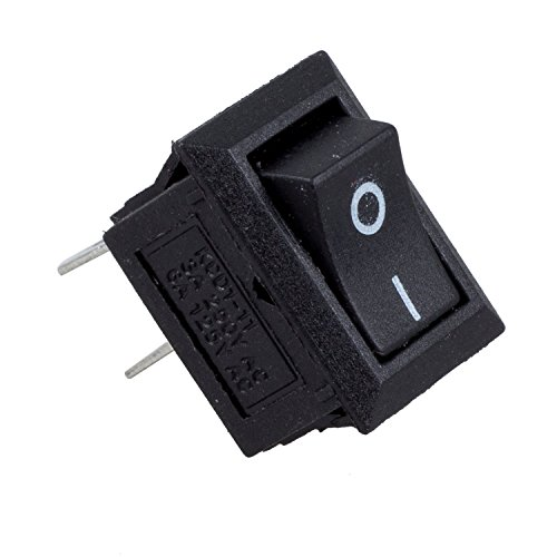 SODIAL(R) 5 x Mini Interruttore a bilanciere on/off SPST AC 250V 3A 2 Pin
