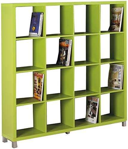 "Kit Closet Estantería ""Kubox"" 16 huecos verde"