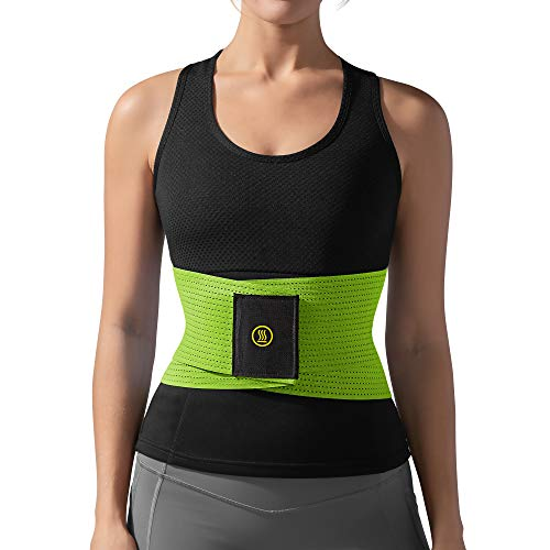Hot Shapers Waist Trainer for Women – Compression Workout Belt – Hourglass Body Shaper – Flex Band and Wrap for Tummy (Green, 4XL)
