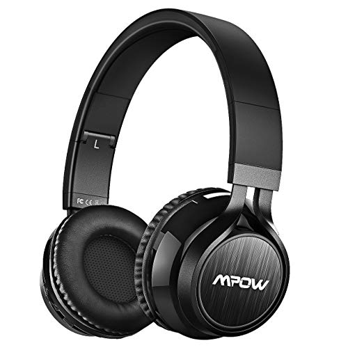 Mpow Thor Bluetooth Headphones On Ear, Hi-Fi Stereo Wireless Headset Foldable with Mic, Lightweight Comfortable Protein Earpads, Wired Wireless Mode Bluetooth Headphones for Cellphone/TV/PC