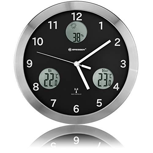 Bresser Wanduhr 30cm MyTime IO horloge murale noire,...
