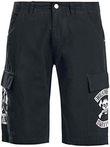 The Walking Dead Survivor Männer Short schwarz M 100% Baumwolle Biker, Fan-Merch, TV-Serien