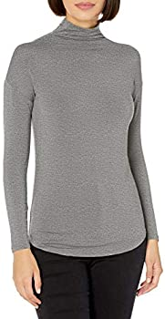 Amazon Brand Daily Ritual Women's Jersey Long-Sleeve Funnel-Neck Shirt