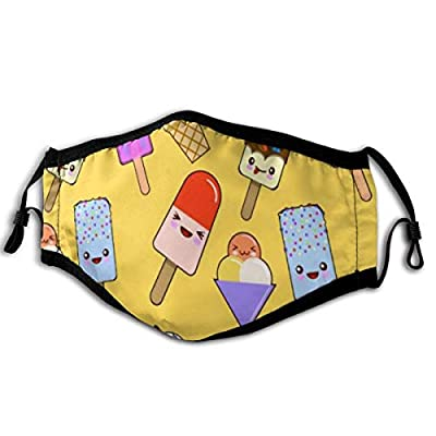 """Masks Seamless Pattern With Kawaii Ice Cream 6"""" x 9"""" Inch Anti Dust Mask Face Mouth Masks"""