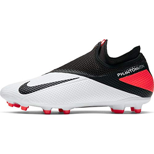 Nike Phantom Vision 2 Academy DF Multi-Ground Cleats (Numeric_8_Point_5) White/Black/Red