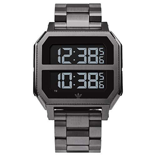 Adidas Unisex Digital Spezielles Modul Uhr mit Edelstahl Armband Z21-632-00