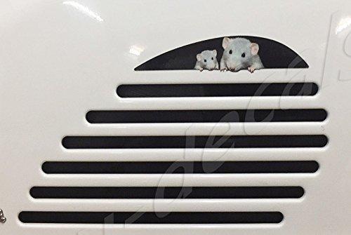 EU-Decals - MioVespa Collection Vespa Gts 125 200 250 300 Gtv hinten rechts Seite Lüftungsschlitz Erweiterung Maus Familie Aufkleber laminiert Bild auf Vespa