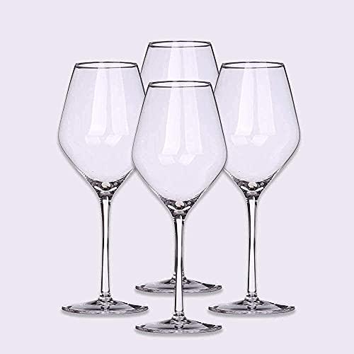 FYHH-JZHY Bicchiere da Vino da 500 Ml in Cristallo Soffiato A Mano Senza Piombo in Vetro Trasparente Adatto per Feste, Anniversari, Natale Che Vale La Pena Avere,8
