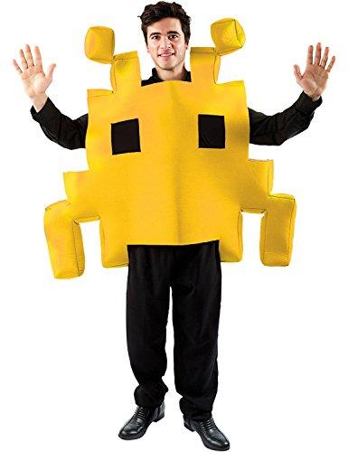 ORION COSTUMES Costume de déguisement jaune rétro de jeu d'arcade d'espace des années 80 unisexe