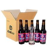 PACK DEGUSTACIÓN O REGALO - I LOVE LOW - 2.3% vol - BAJO CONTENIDO EN ALCOHOL - Pack cervezas artesanas (5 x 33cl + 1 vaso)
