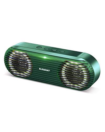 ELEGIANT Bluetooth Lautsprecher Tragbarer Stereo Subwoofer Wireless Boxen (Grün)