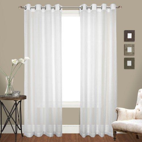 United Curtain Venetian Crushed Voile Finestra Tenda a Pannello, 100da 274,3cm, Bianco, Set di 2