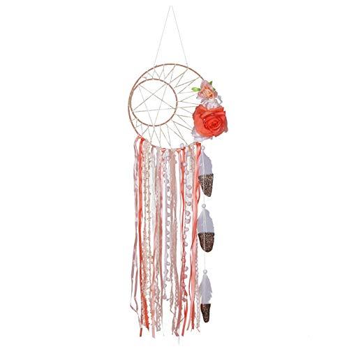 crazerop Atrapasueños hecho a mano, macramé, decoración de pared, alfombra india, decoración de pared, adorno para baby shower, boda, hogar, dormitorio, sala de estar