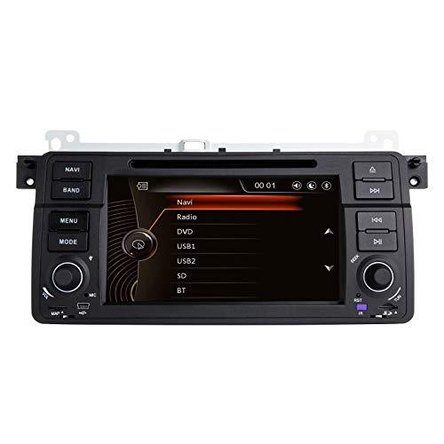 FDGBCF N/A para BMW E46 Rover 75 MG ZT 7'Reproductor de DVD para Coche Radio Estéreo Sistema GPS Reproductor Multimedia para Coche con Tarjeta de Mapa de cámara de visión Trasera