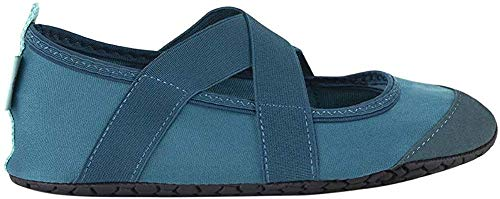 FitKicks Crossovers Women's Foldable Active Lifestyle Minimalist Footwear Barefoot Yoga Water Shoes Teal