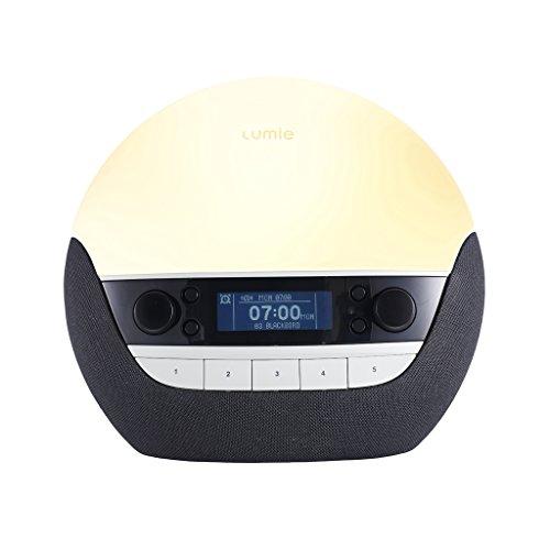 Lumie Bodyclock Luxe 750D - Lichtwecker DAB-Radio, Bluetooth-Audiofunktion und Nachttischlampe mit geringem Blaulichtanteil
