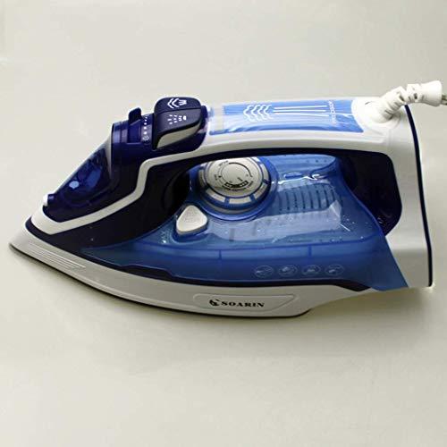 Professioneel Stoomstrijkijzer Level 3 Temperatuur Verstelbare Ceramic Soleplate, Handheld ijzers SELFCLEAN, SR606 strijkplank (Kleur: Rood) 8bayfa (Color : Blue)