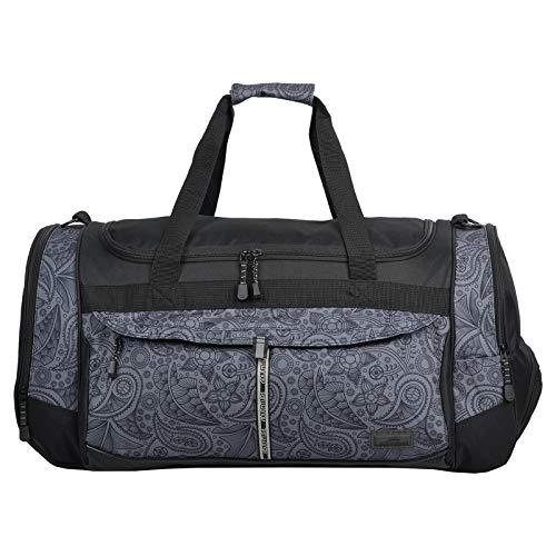 Sporttasche Keanu Adventure Damen Herren ** Viele Fächer z.B. Schuhfach, Seitentaschen, Vordertasche ** 65 Liter Fitness Tasche Sport Sauna Tasche Reisetasche Handgepäck (Black Jacquard XL)