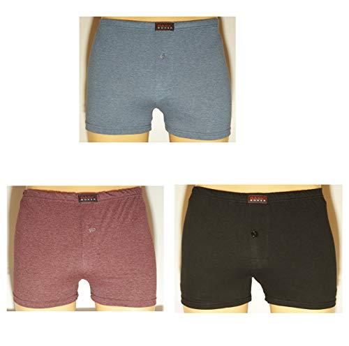 Basic 3-Pack Heren boxershorts gekleurd maat 6XL