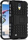 MoEx Caso del Tanque para Samsung Galaxy S4 | Caso al Aire Libre con protección de Doble Capa | Bolsa de protección Celular OneFlow | De Vuelta en la Cubierta Negro