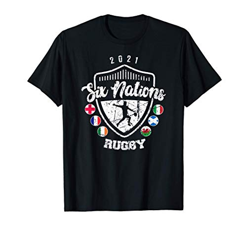 Rugby 6 Nations England France Wales Scotland Italy Ireland T-Shirt