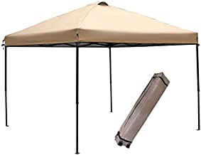 Abba Patio 10 x 10 Feet Outdoor Pop Up Canopy Portable Folding Canopy Instant Shelter with Roller Bag, Tan