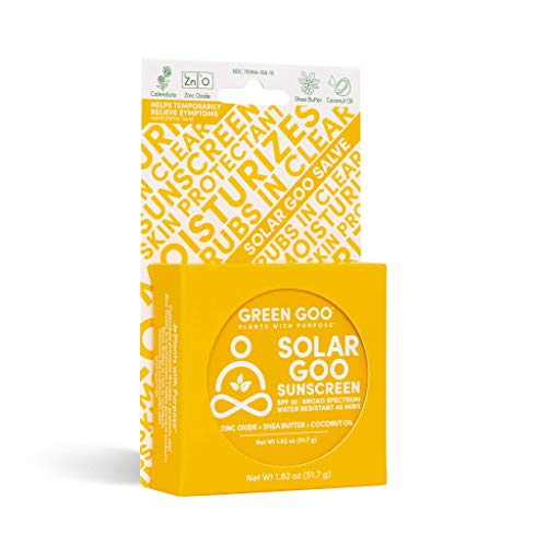 Green Goo Natural Skin Care Salve, Solar Goo, 30 SPF Sunscreen, 1.82-ounce Large Tin