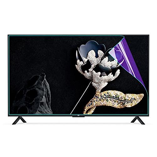 ELISYG 55 Pulgadas Protector de Pantalla de TV, Anti luz Azul Antirreflejos Película Protectora De TV, Protección Ocular para LCD, LED, OLED Y QLED 4K HDTV (Color : Matte, Size : 1221 * 689mm)