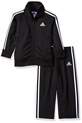 adidas Baby Boys Li'l Tricot Jacket & Pant Clothing Set, Black, 18M