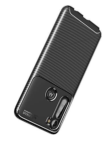 NOKOER Funda para Motorola Moto G Pro, Material de TPU es Ultra-Delgado Case, Anti Huella Digital Telefono Funda [Resistente al Desgaste] [Antideslizante] Cover - Negro
