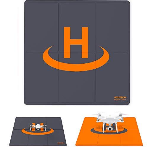 2021 VCUTECH Drone Landing Pad Pro de doble cara de doble cara impermeable de 65 cm compatible con DJI Mavic Air 2, Air 2S, Mavic Mini 2, Mavic 2 Pro/Zoom, DJI FPV, accesorios de dron