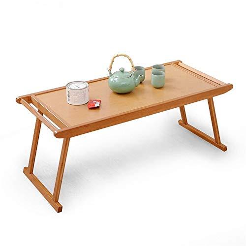 REN Con Patas Plegables de bambú Mesa de café, pequeña Mesa Cuadrada Mesa de Ordenador de Escritorio Ligeros *