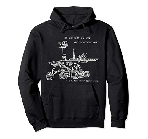 RIP Mars Opportunity Rover Exploration Hoodie - hand-drawn