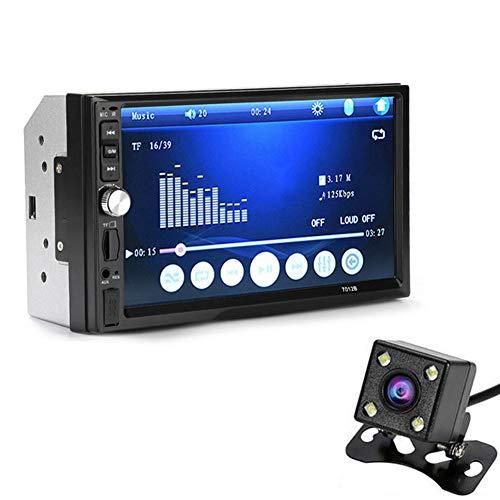 lzndeal 7inch Double 2Din Voiture Lecteur mp5 Bluetooth stéréo Radio HD caméra entrée FM