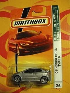 Mattel Matchbox '08 Honda Civic Type R 2 of 9 Metro Rides Series #26 Grey Silver