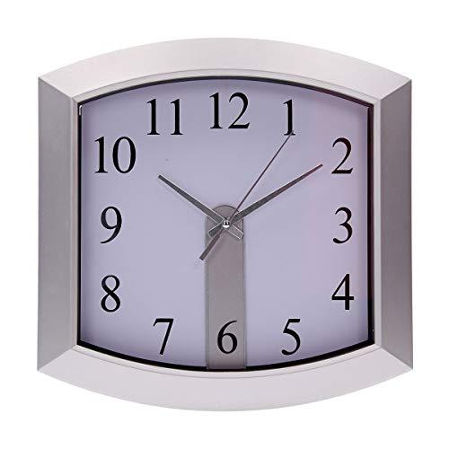 TIPTOP OFFICE PM Master - Reloj de Pared, Color Plateado