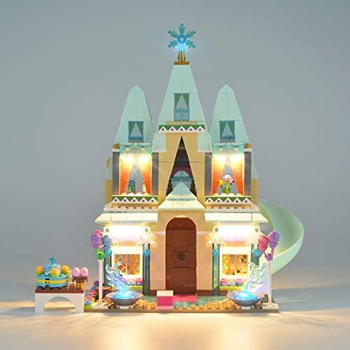 HLEZ USB Leuchten Kit Spielzeug für Arendelle Schlossfeier Bausteinen Modell, Led Beleuchtungsset Kompatibel Mit Lego 41068 (Ohne Lego Set)